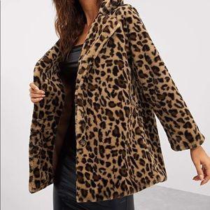 Faux fur cheetah jacket